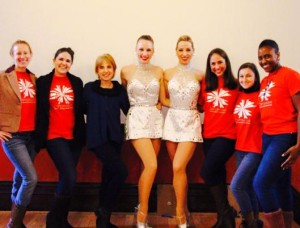 Dancewave staff with the Rockettes