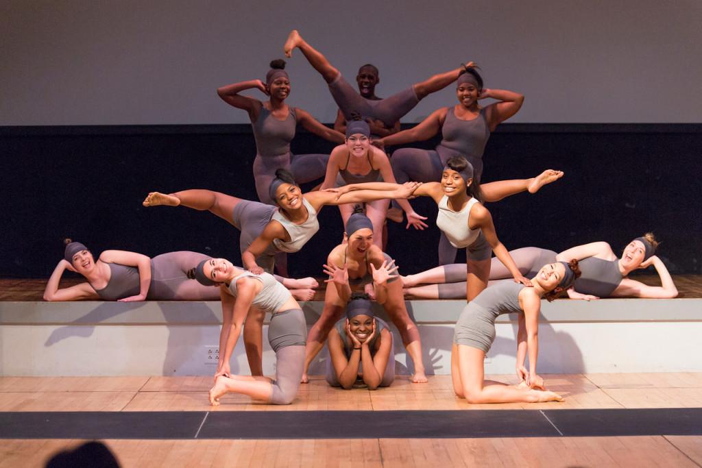 Dancewave Company I performing Andrea Miller's 'Wonderland' at Dancewave Gala 2015 held on April 29, 2015 at Roulette, Brooklyn