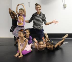 Madeline Irmen and her little dancewavers