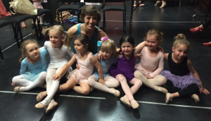 Madeline Irmen with her students at Dancewave