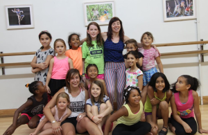 Hannah Swanson & Christina Reaves with their students at Dancewave's Summer Camps
