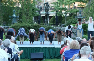 Taking a bow – Dancewave Company at Pocantico. Image Credits: Wenting Sun