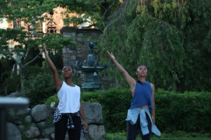 Dancewave Company performs Kyle Abraham's 'Pavement' at Pocantico Center in Tarrytown NY.