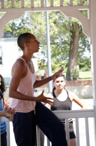 Stefanie Batten Bland teaching at the ASDI at Governors Island