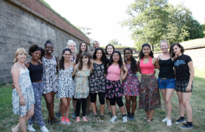 Dancewave team with Stefanie Batten Bland and Advanced Summer Dance Intensive students