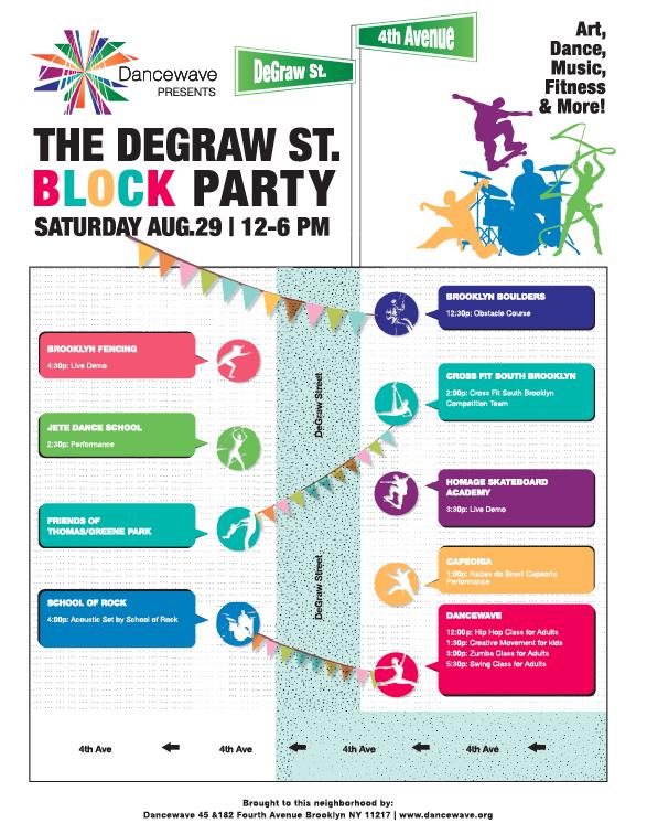 Dancewave presents DeGraw Street Block Party_Flyer